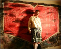 A painting and a Kilt by WrongState
