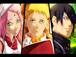 Naruto 700 - Team 7 Grown up .. by KhalilXPirates