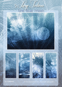 5 Large Textures The blue moon by lucemare