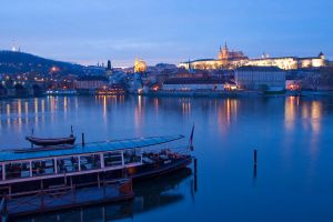 Prague at dusk by hariskalin