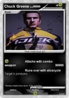 Chuck Greene pokemon card by mjroady