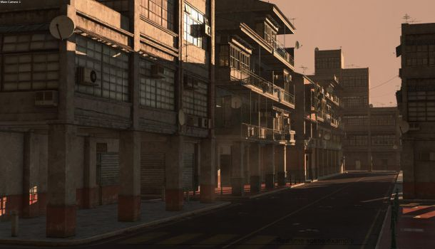 Commercial district construction kit by PixelMonger75