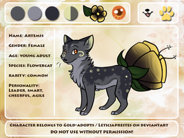 Artemis Ref Sheet by gold-adopts