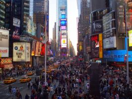 Times Square by bottomofastairwell