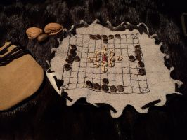 Leather Hnefatafl board by LeTrefle