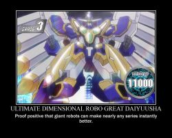 Ultimate Dimensional Robo Great Daiyuusha by SilverScarCat