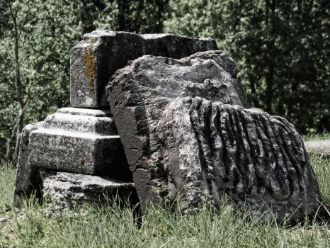 Crumbling Grave: Side View by GrindhouseCinema