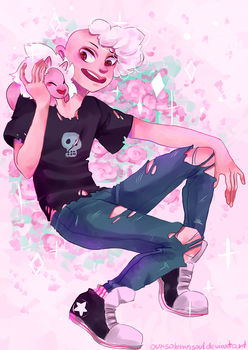 Pink Lars STEVEN UNIVERSE by Oursolemnsoul