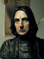 Painted Severus Snape bust 2012 by MarieChristensen