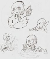 Pokemon doodles by DeerKitten