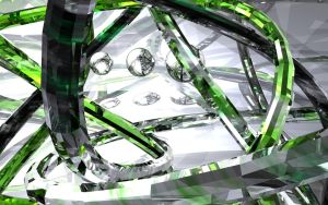 Green Glass Atom -2405 Series- by chaotic-z