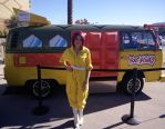April O'Neil and the TMNT Van by Heather-Ferris