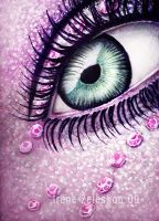 purple eye oil painting by ftourini