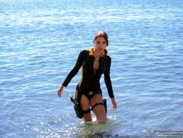 Lara Croft wetsuit - suddenly! by TanyaCroft