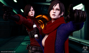 Ada Wong and Carla Radames. Mercenaries by AliceCroft