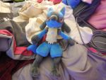 NEW Lucario Plushie by CaitlinTheLucario