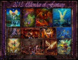 Fantasy Calendar-Back Cover by digitalwizard