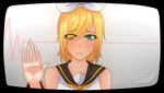 -Glass Wall- Kagamine Rin by dweebzilla