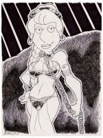 Slave Leia Lois Griffin by misfitcorner