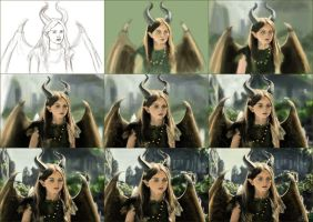 Young Maleficent Tutorial by alizakusuma