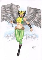 Hawkgirl - COLOR - by LEO MATOS by Ed-Benes-Studio