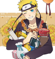 Happy Birthday Naruto by asaimomoe