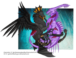 The Capture - commission- by Galidor-Dragon