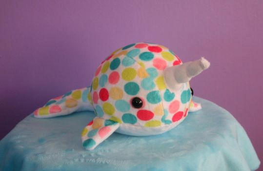 Rainbow Dots Narwhal by FollyLolly