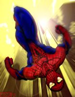Amazing SpiderMan Free Fall by gorillagraffix