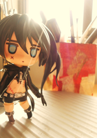 Black Rock Shooter - Good Smile Company Nendoroids by Vocalandroid01