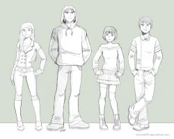 Ben10 Random Outfits - Lineart by kitsune999