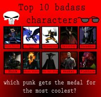 My top ten badass characters by porygon2z
