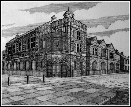 Salford lads club by PENANDINKDRAWINGS