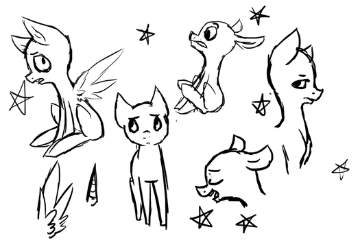 Free To Use Sketches by LullabyPrince