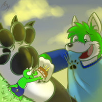 Gift for Cute Giant Wolf X3 by benj24