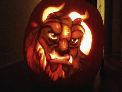 Beast Pumpkin Carving by Confidenceman047