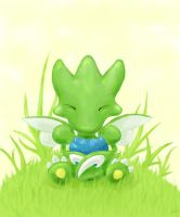 Little scyther by Crashed-on-the-moon
