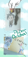 paper children: izaya, shizuo by sugarbearkitty
