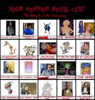 My Horror Film Cast Meme by MariposaLass-93