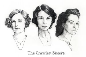 The Crawley Sisters of Downton Abbey by AllisonSohn