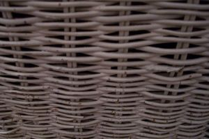 Up close antique wicker weave by paintresseye