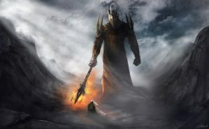 Morgoth and Fingolfin by JMKilpatrick