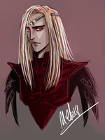 Sketch of Sauron by MellorianJ