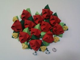 Origami Roses by JMarFtAtkinson