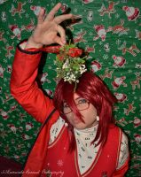 Cosplay - Merry Christmas from Grell Sutcliff by SammehChu