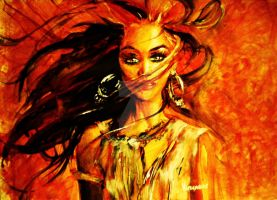 Storm of the heart, Tyra Banks by sounchy