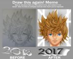 Roxas Before and After Meme by MeganSora