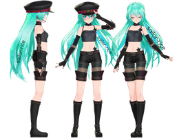 Tda x DT Punk Miku by sailor-rice