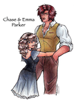 Chase and Emma Parker by Winter-Falls