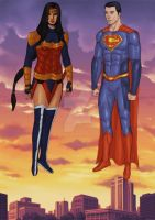 Wonder Woman and Superman 23 05 2015 by LucasBoltagon